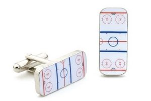 Kinzoku Hockey Rink Cufflinks